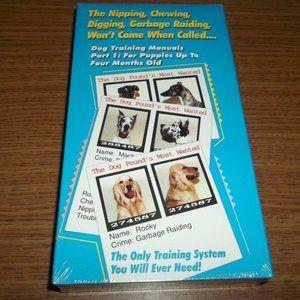 DOG TRAINING MANUALS PART 1 PUPPIES VHS